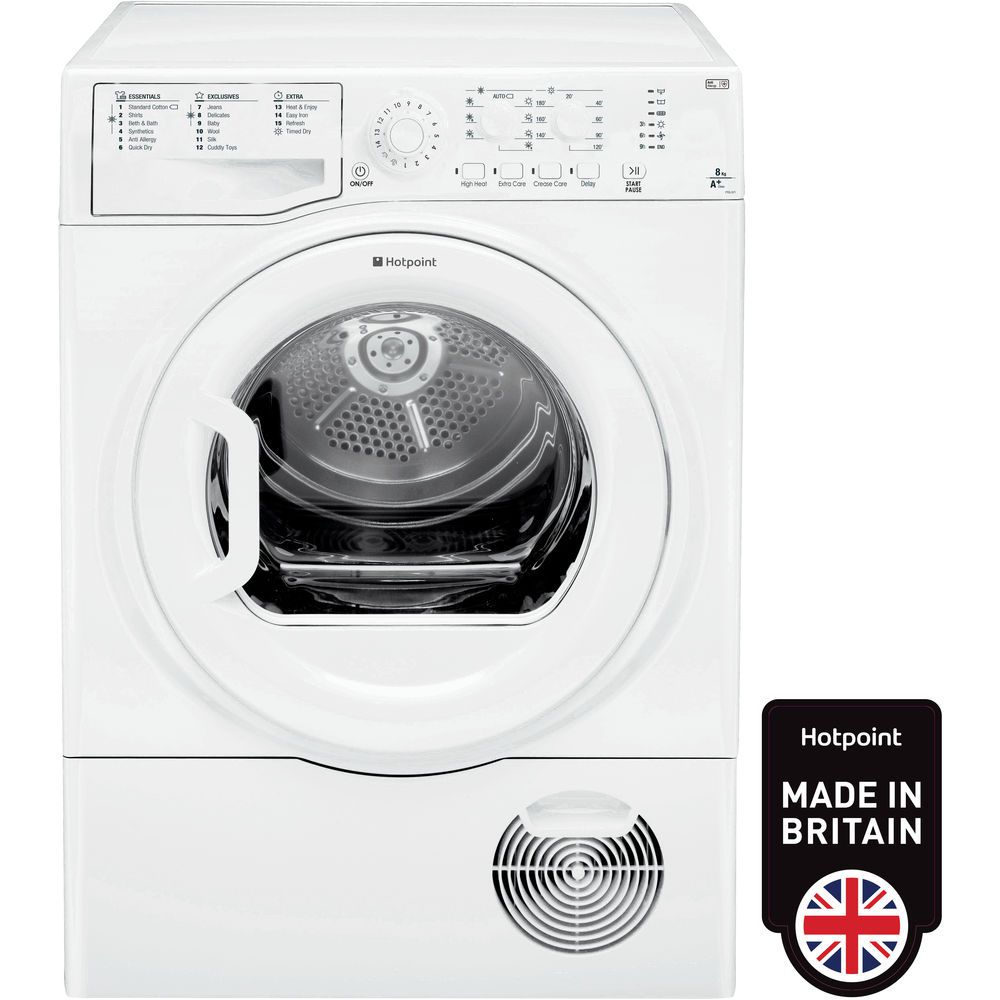 Hotpoint Heat Pump Tumble Dryer Freestanding 8kg Ftcl 871 Gp Uk Aquarius Washing Machine Wiring Diagram White