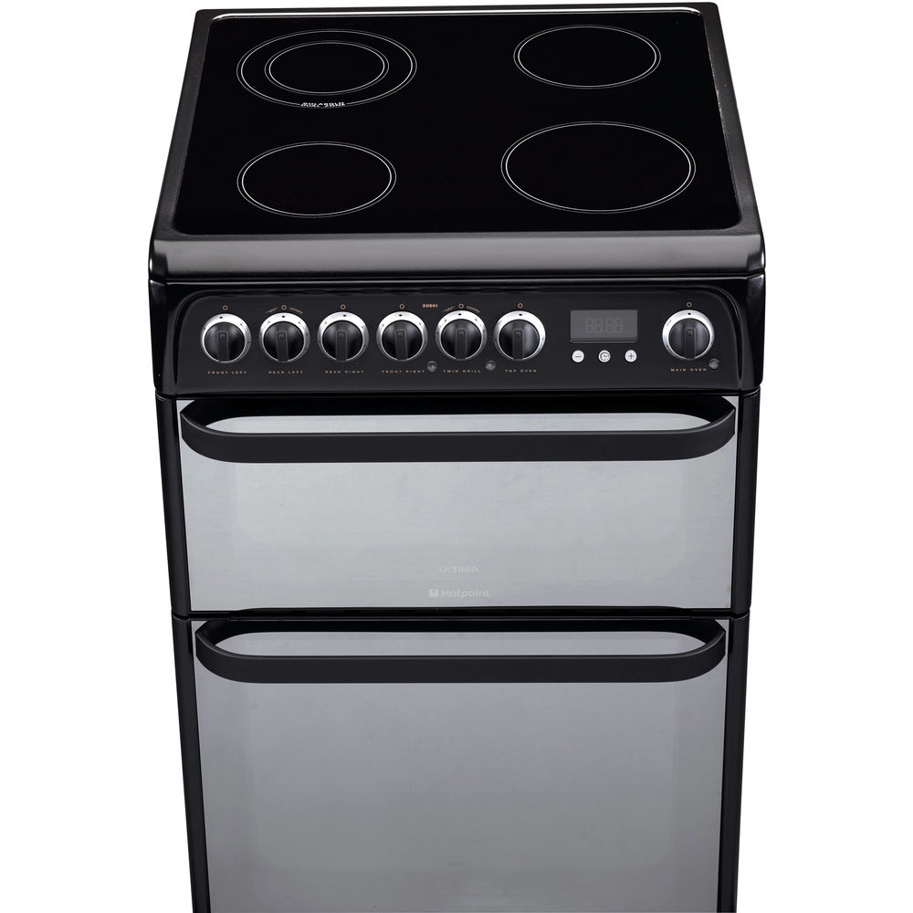 Hotpoint Ultima DUE61BC Cooker - Black