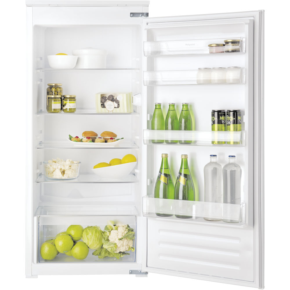 inox color: Hotpoint integrated fridge