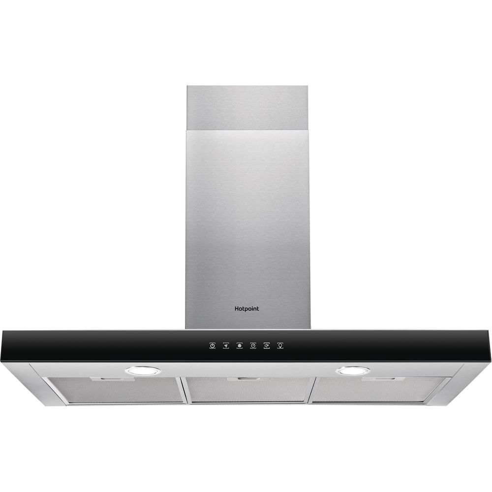 Hotpoint wall mounted cooker hood: 90cm