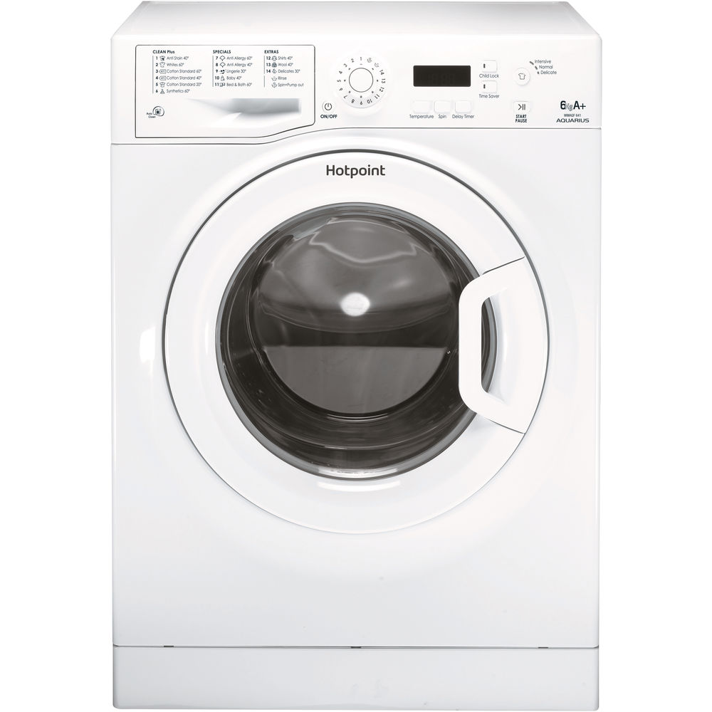 Hotpoint freestanding front loading washing machine: 6kg