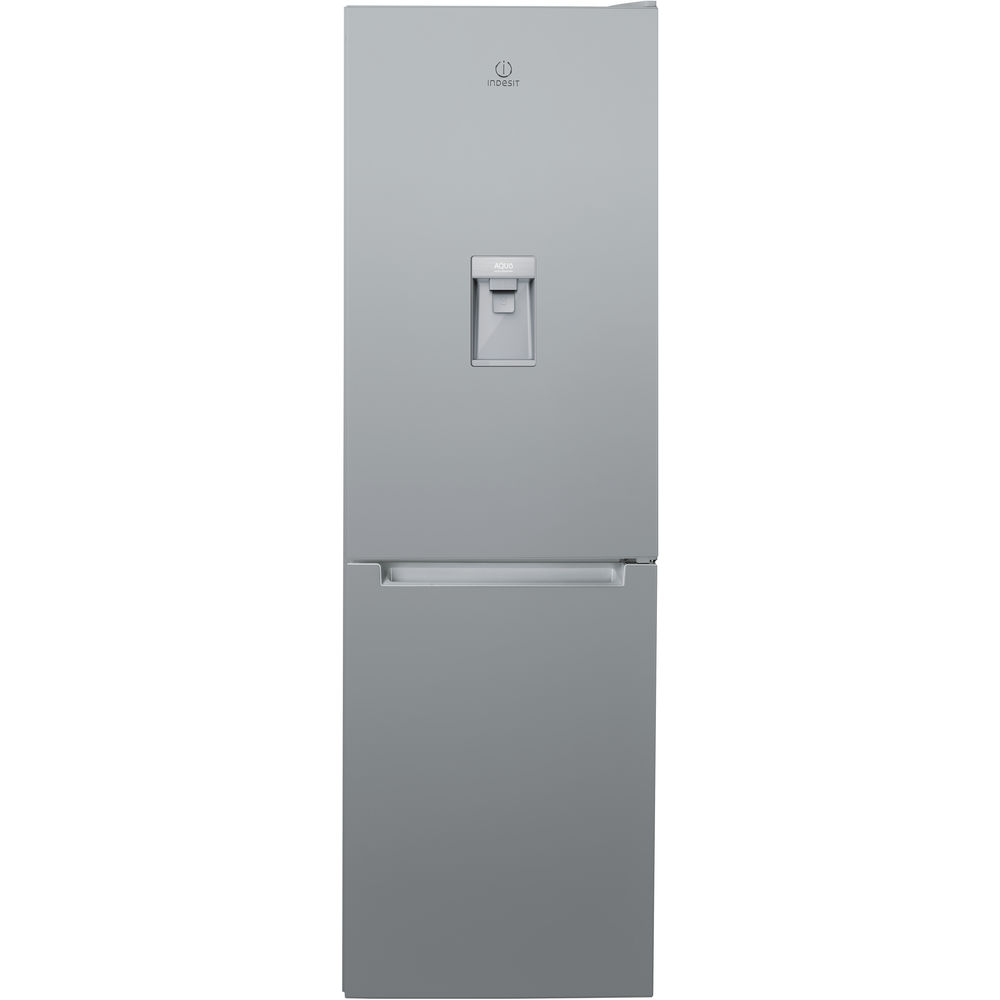 Indesit LR8 S1 S AQ Fridge Freezer in Silver
