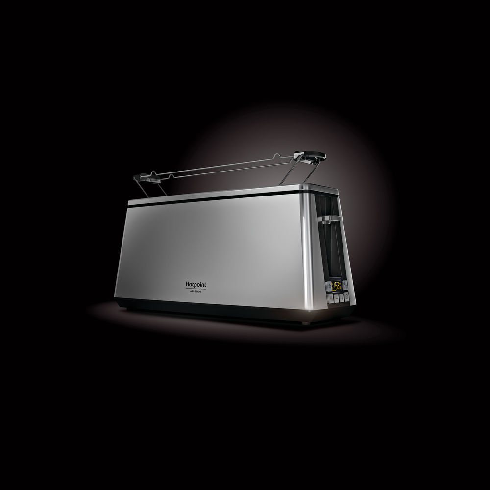 EXTRA LONG DIGITAL TOASTER HOTPOINT: COLORE INOX