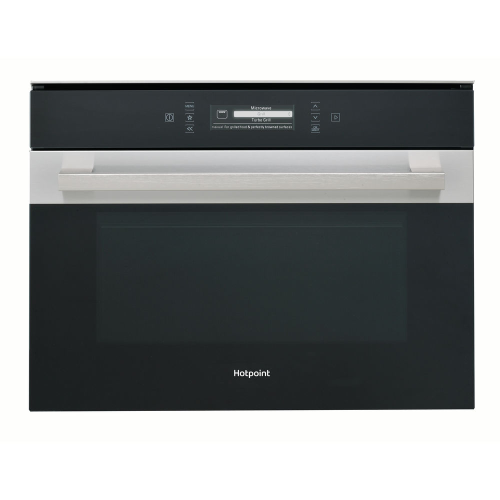 stainless steel color: Hotpoint built in microwave oven