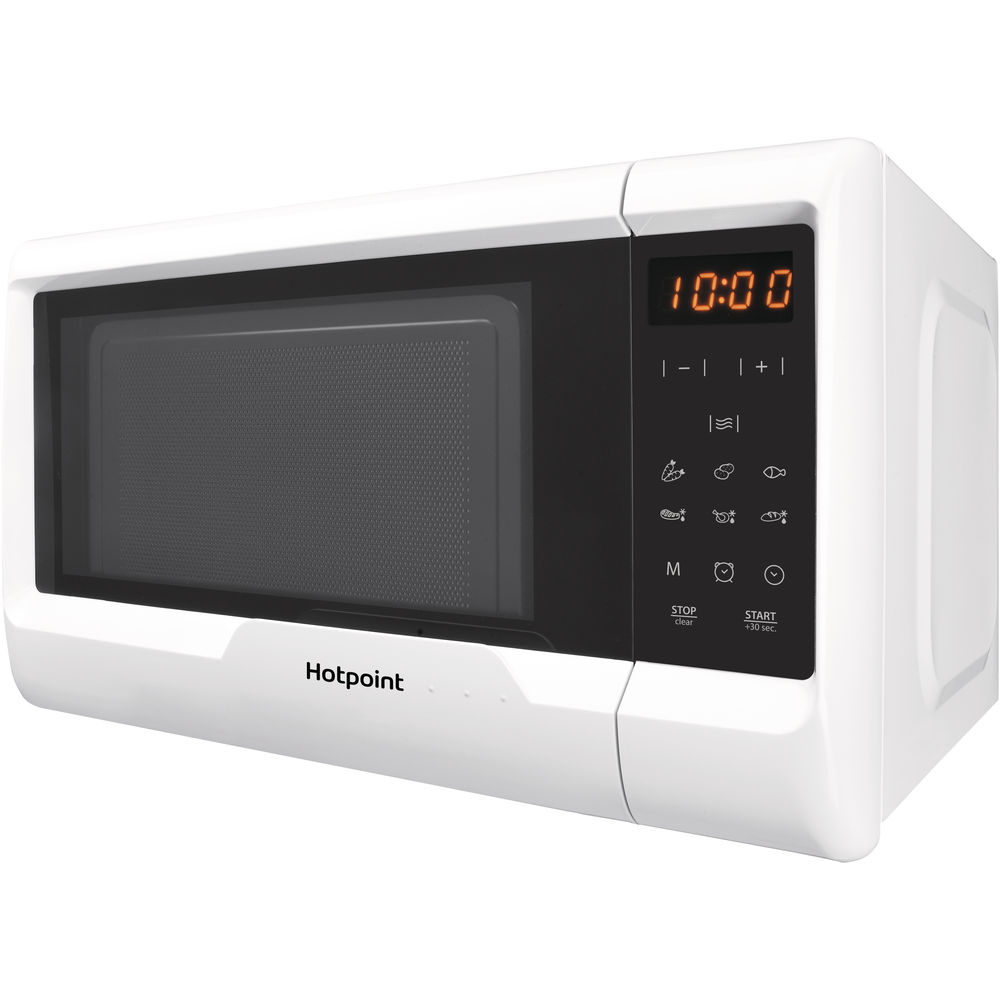 Hotpoint freestanding microwave oven: white color