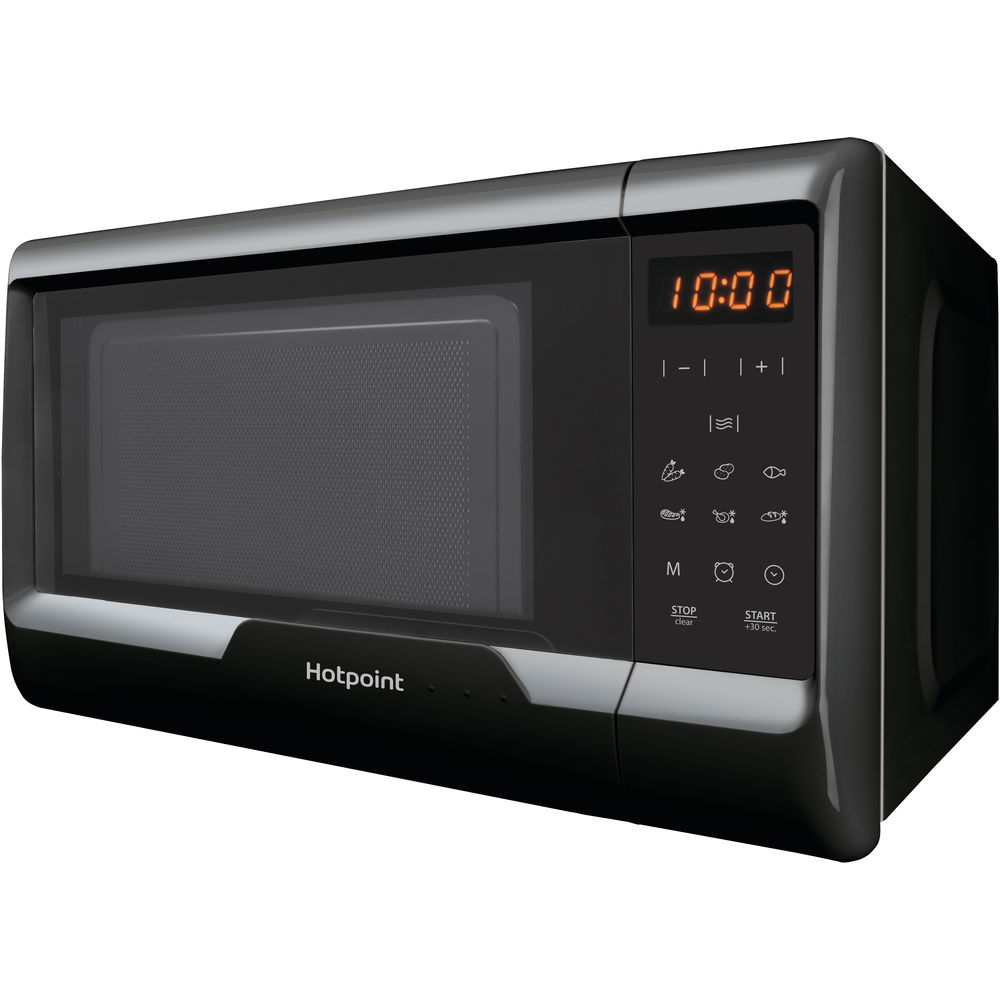 black color: Hotpoint freestanding microwave oven