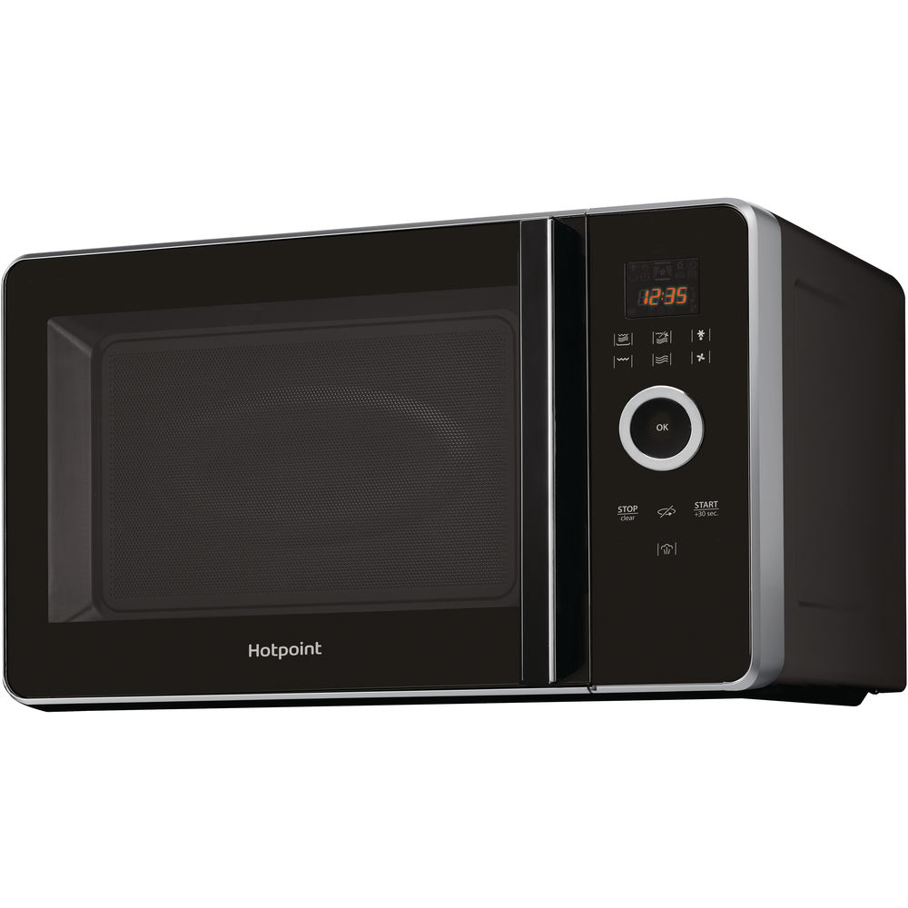 Hotpoint freestanding microwave oven: black color