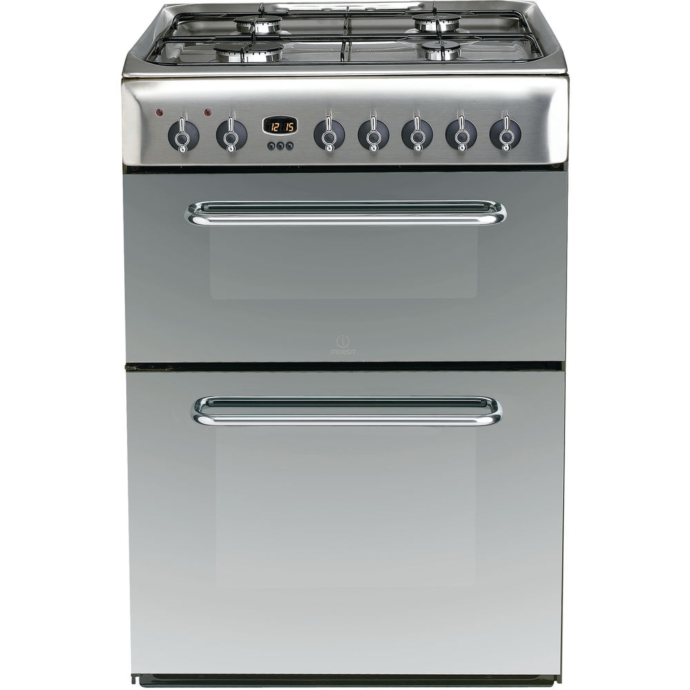 Indesit Kdp60se S Cooker In Stainless Steel Kdp60se S