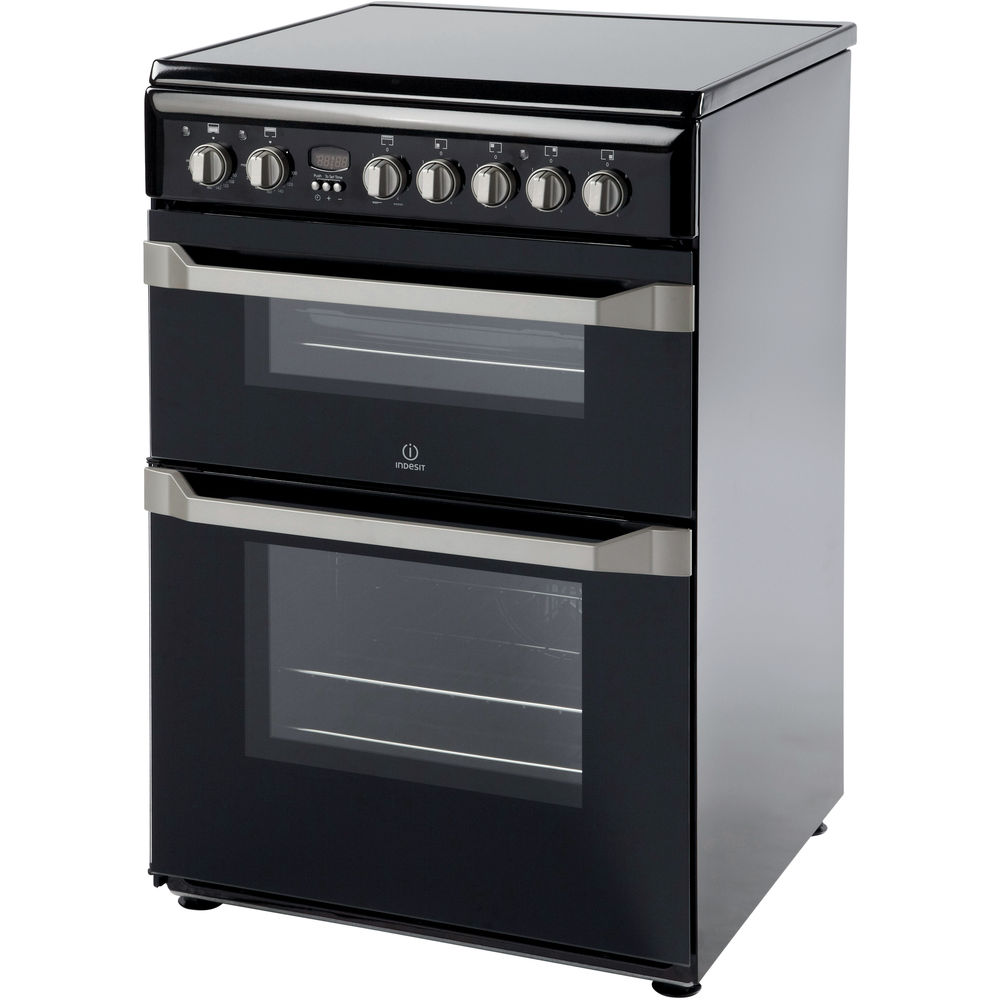 Indesit KDP60SE S Cooker in Stainless Steel
