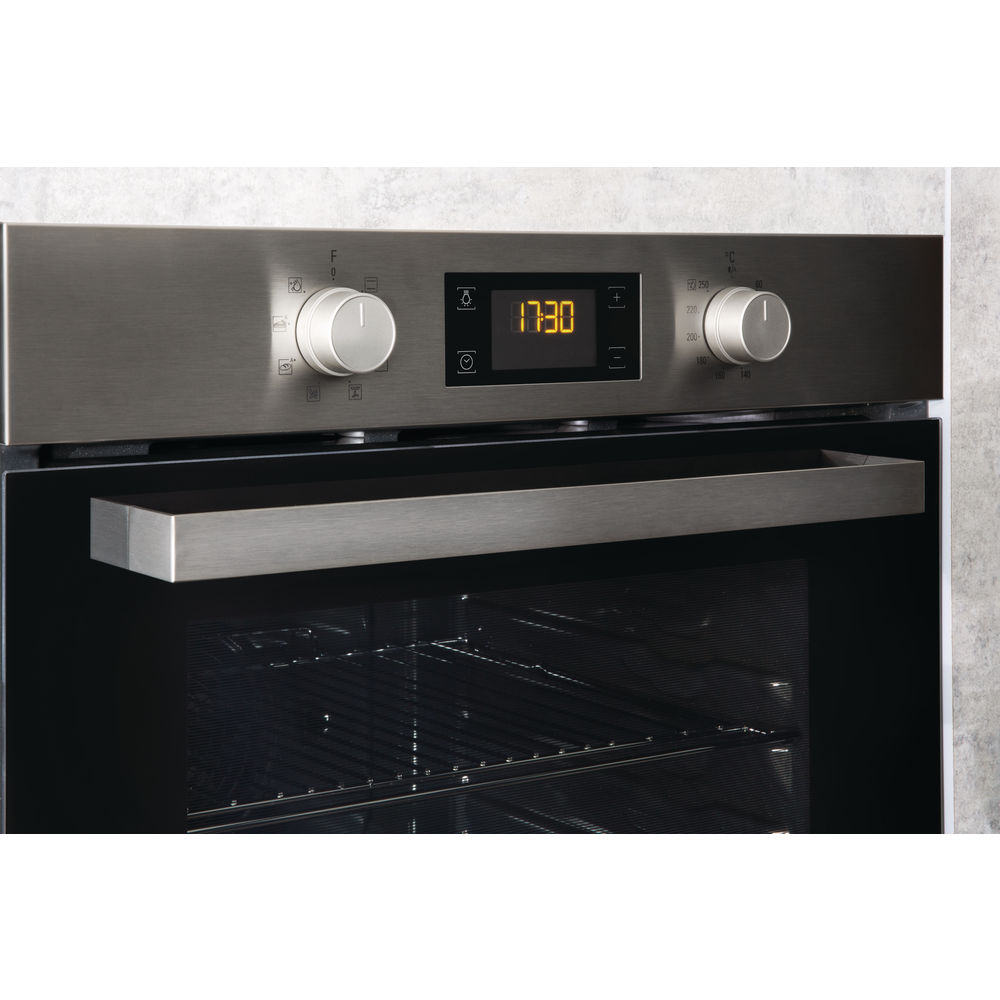 Hotpoint built in electric oven: inox, self cleaning - SA3 540 H IX