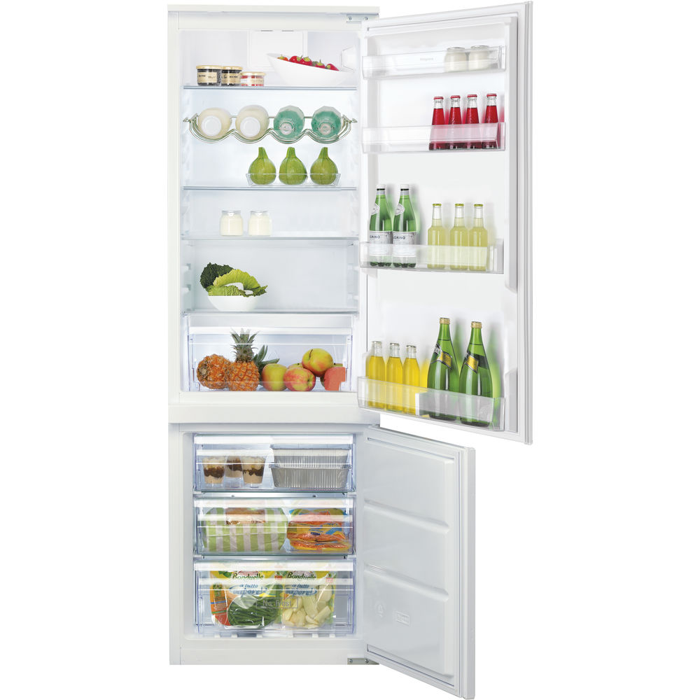 Hotpoint Ultima HMCB 7030 AA D F. Integrated Fridge Freezer - White