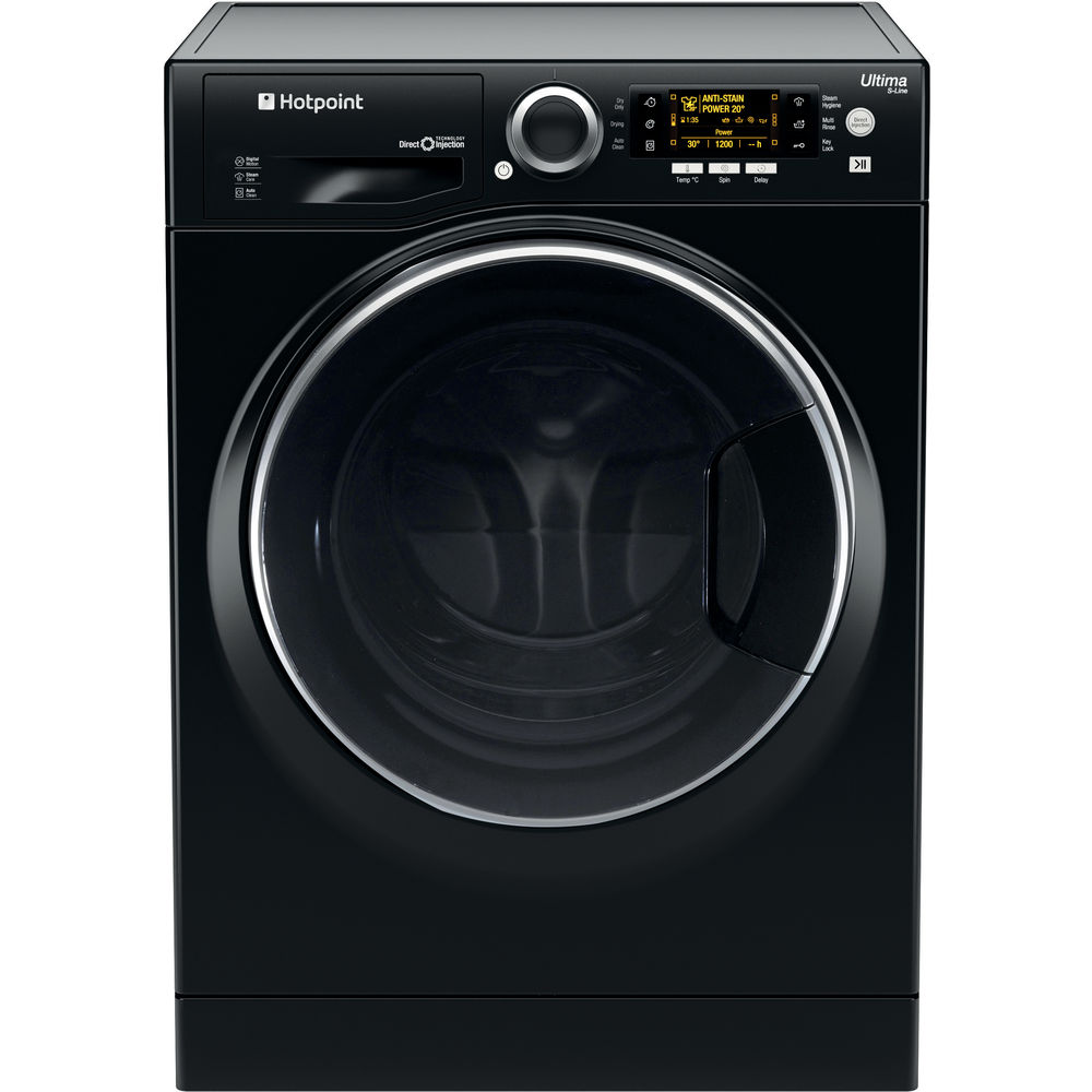 Hotpoint Ultima S-Line RD 966 JKD Washer Dryer - Black