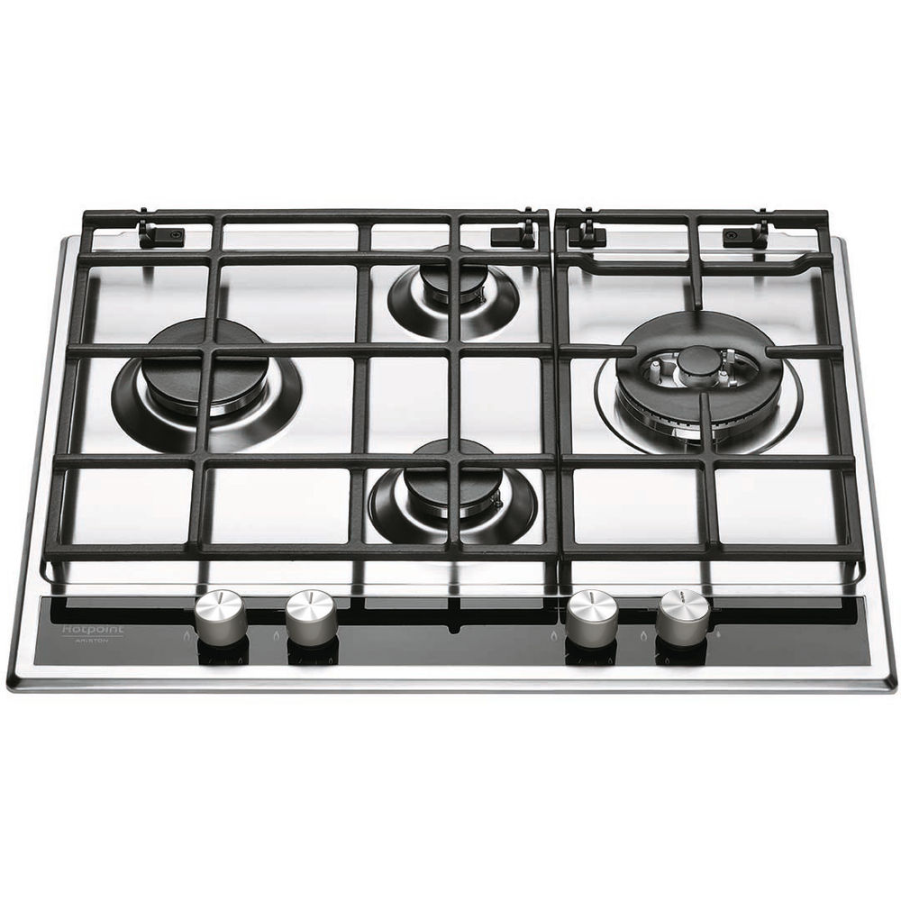 4 fuochi piano cottura a gas hotpoint pkll 641 d2 ix ha hotpoint it - Cucina ariston 4 fuochi ...