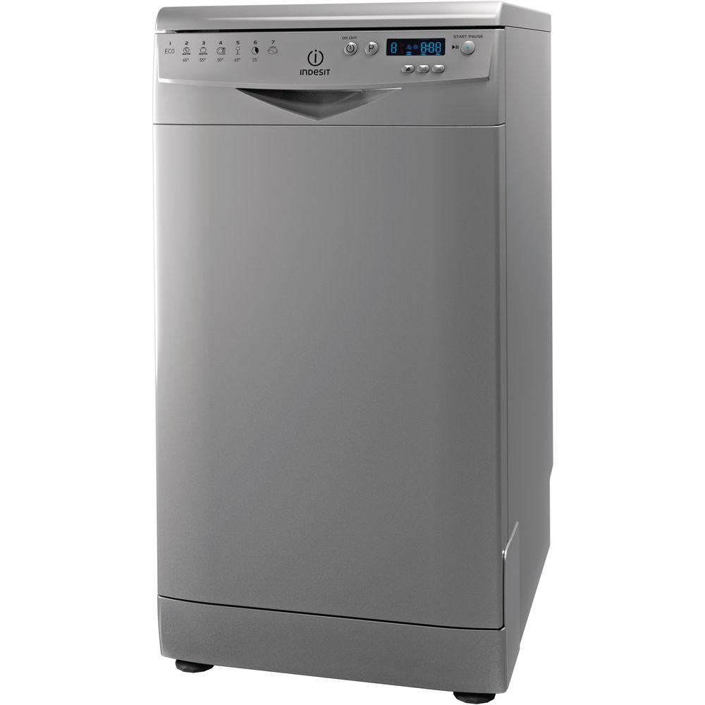 Lave vaisselle indesit gain de place 45cm couleur inox dsr 57m17 nx - Lave vaisselle gain de place ...