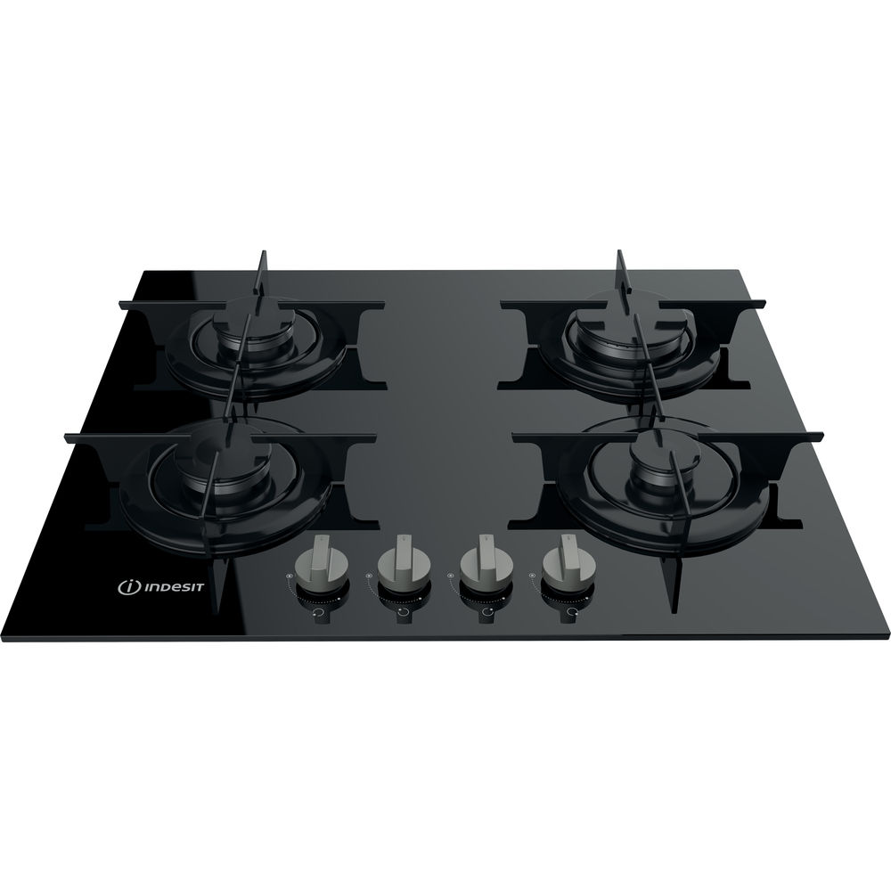 Indesit PR 642 IBK UK Gas on glass Hob in Black
