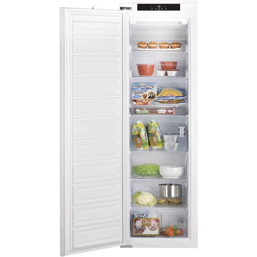 white color: Hotpoint integrated upright freezer
