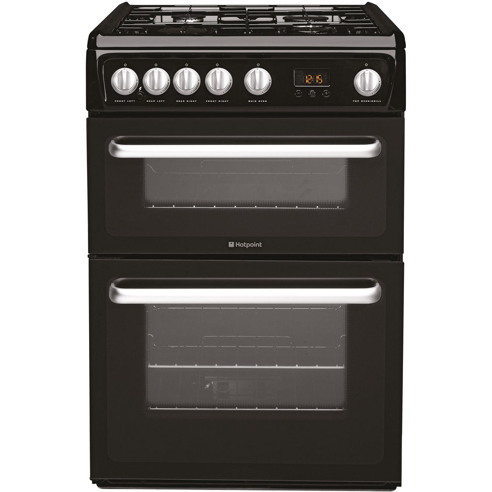 Hotpoint Newstyle HARG60K Cooker - Black