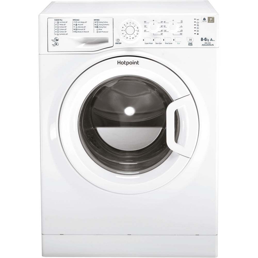 Hotpoint Aquarius WDAL 8640P Washer Dryer - White