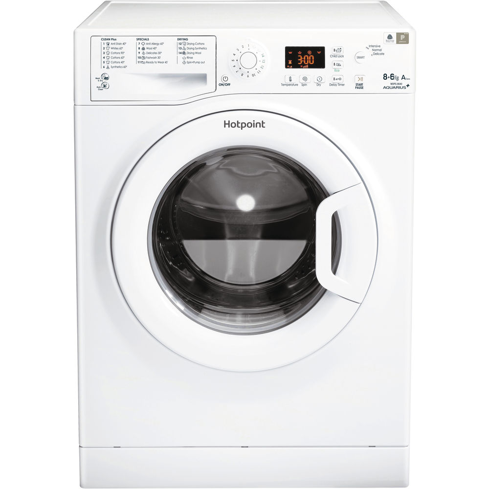 Hotpoint Aquarius WDPG 8640P Washer Dryer - White