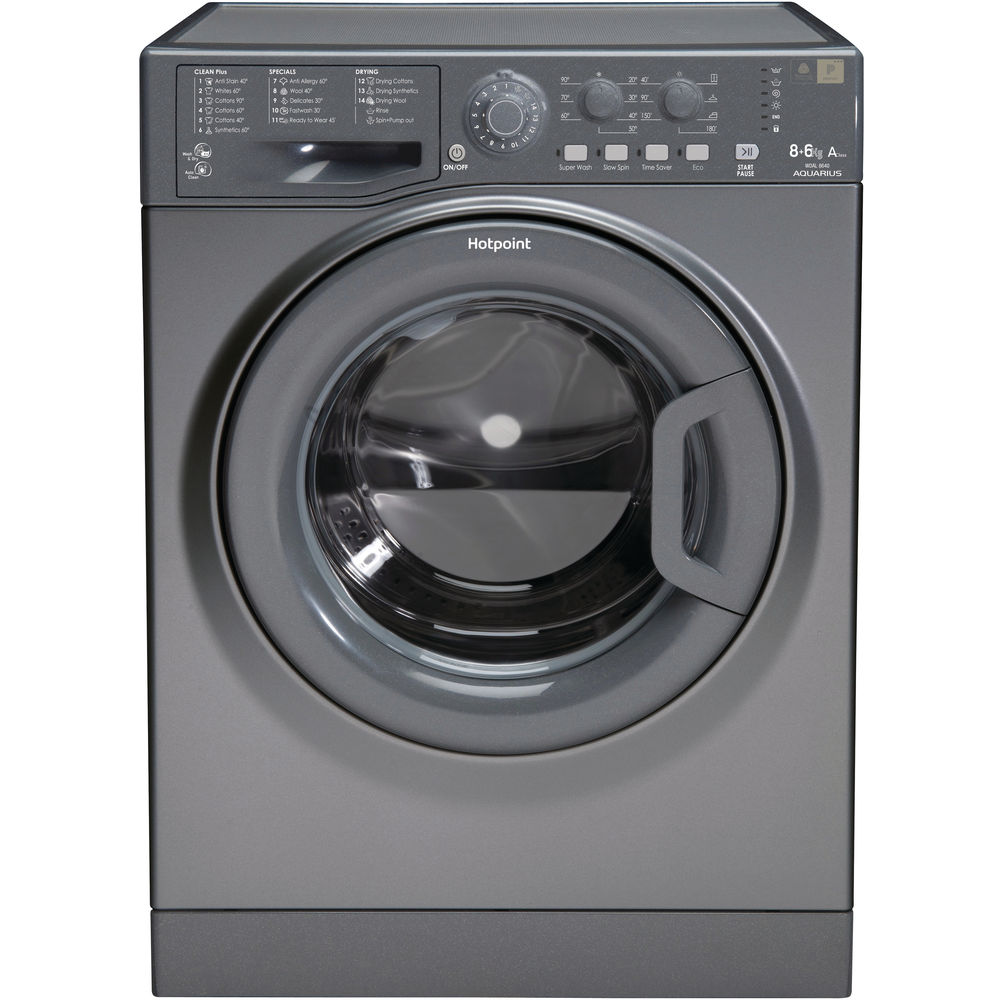 Hotpoint Aquarius WDAL 8640G Washer Dryer - Graphite