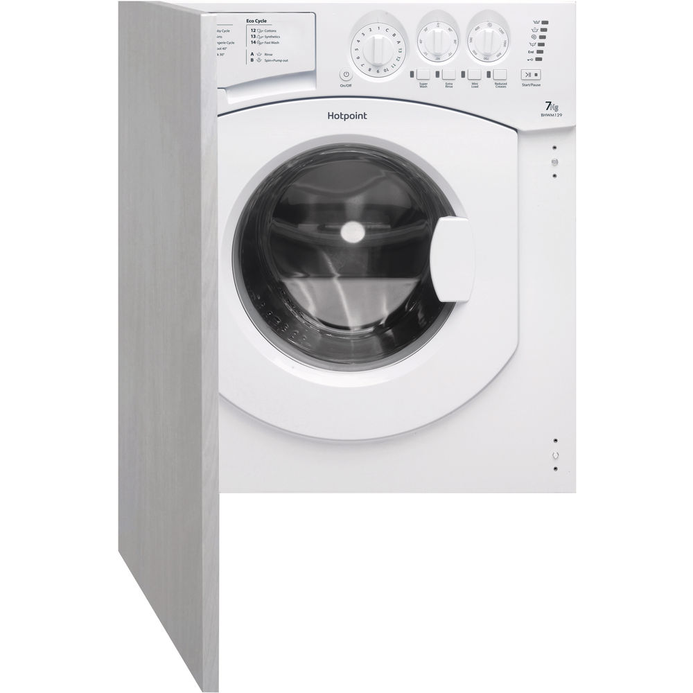 Hotpoint built in front loading washing machine: 7kg