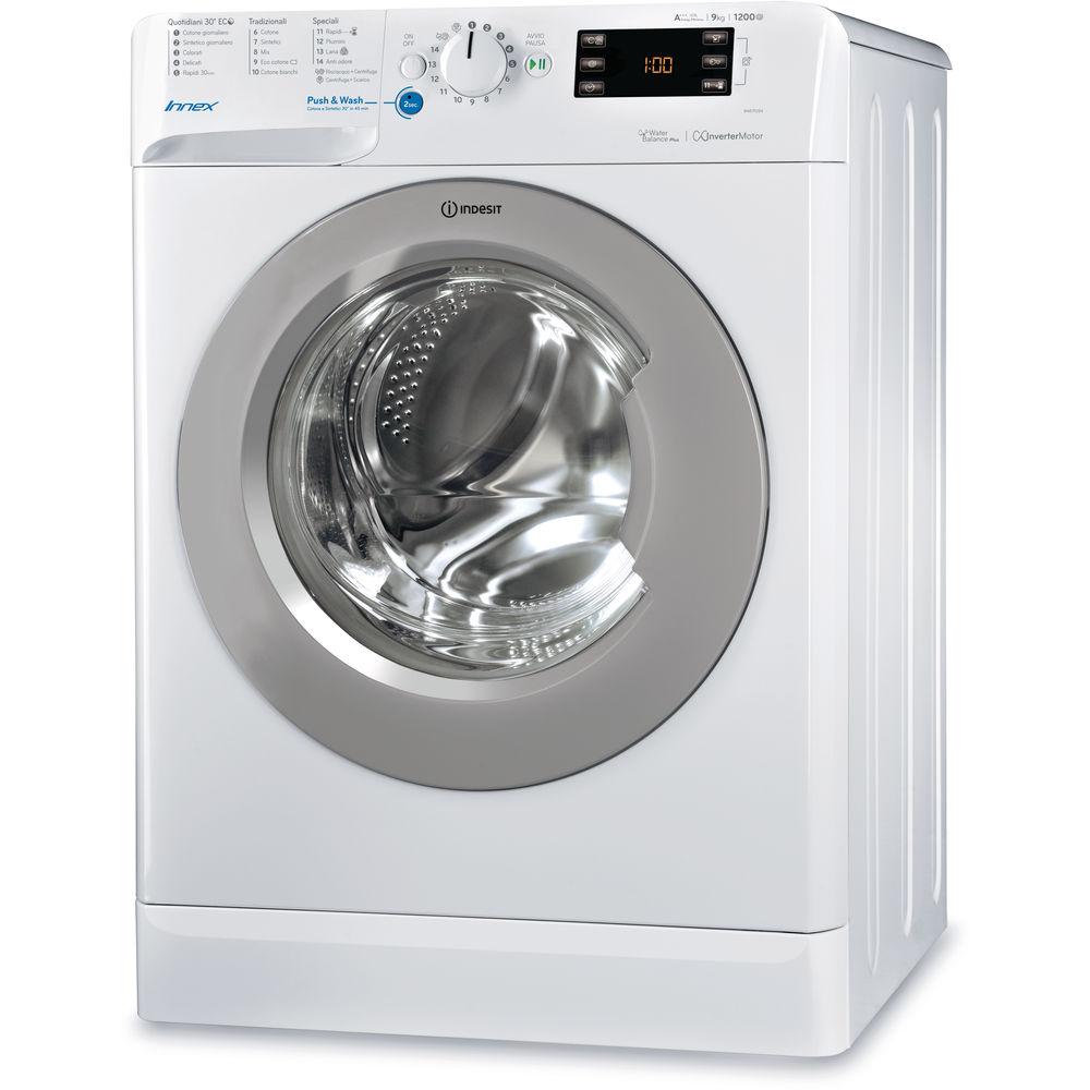 Lavatrice a libera installazione a carica frontale Indesit: 9 kg - BWE 91284X WSSS IT