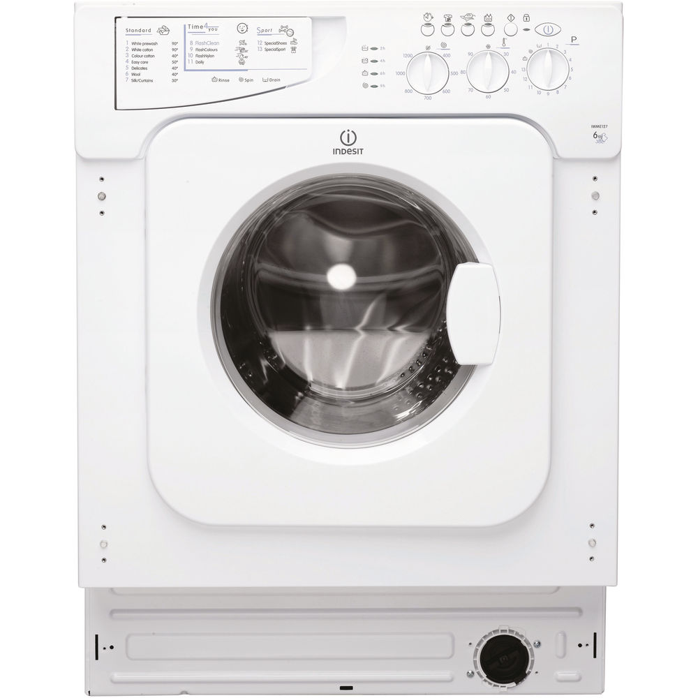 Indesit Ecotime IWME 127 Integrated Washing Machine in White