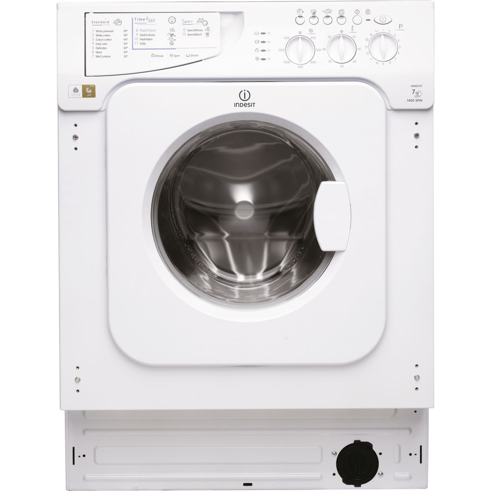 Built in front loading washing machine: 6kg