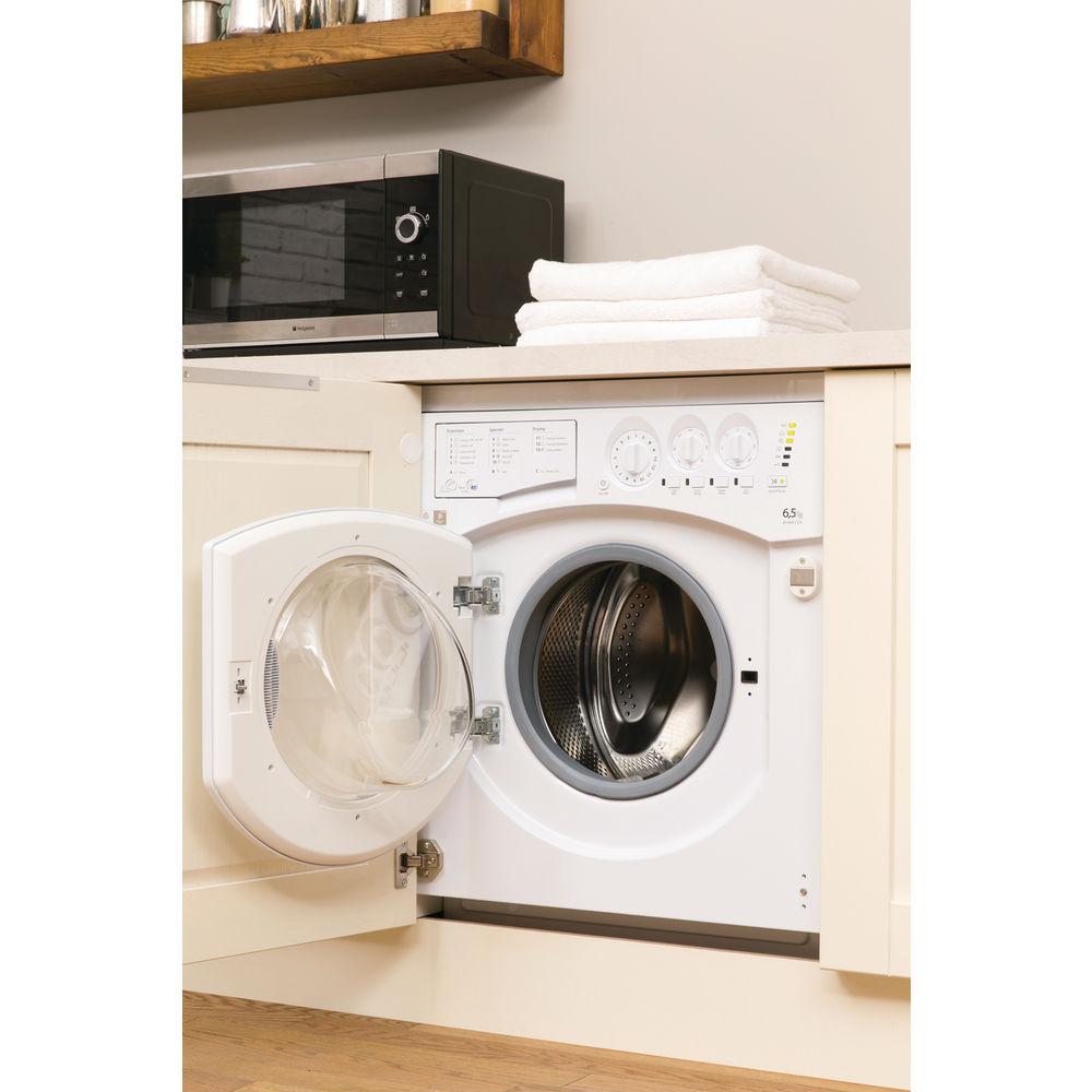 Hotpoint Integrated Washer Dryer Bhwd 129 Uk 1 Washing Machine Wiring Diagram Aquarius White
