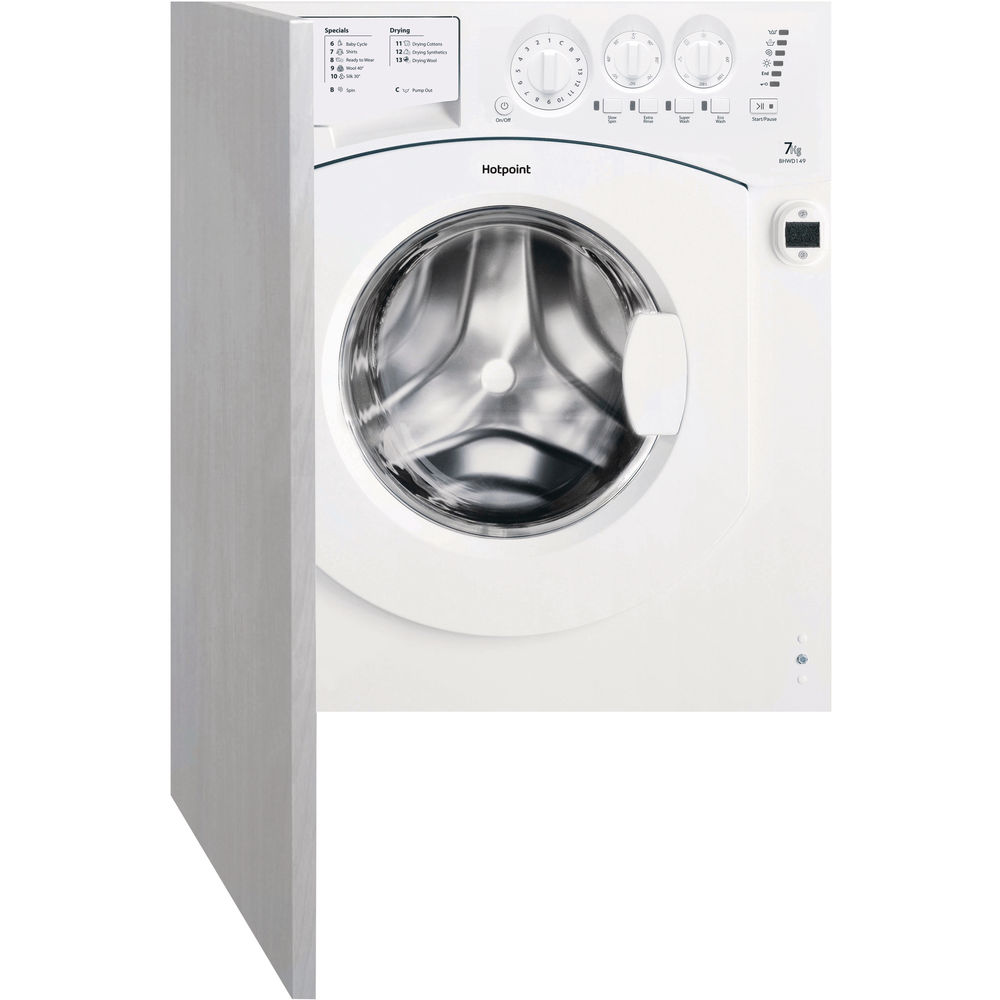 7kg: Hotpoint integrated washer dryer