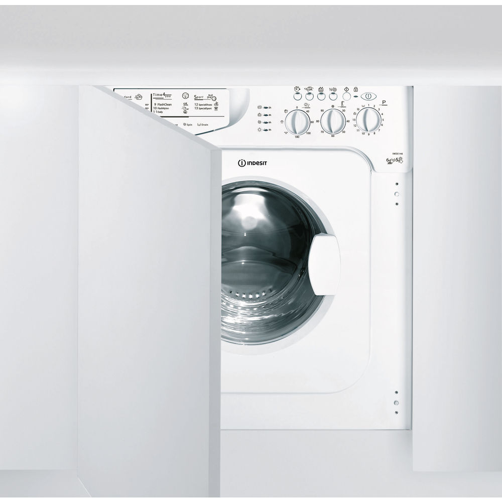 Indesit Ecotime IWDE 146 Integrated Washer Dryer in White