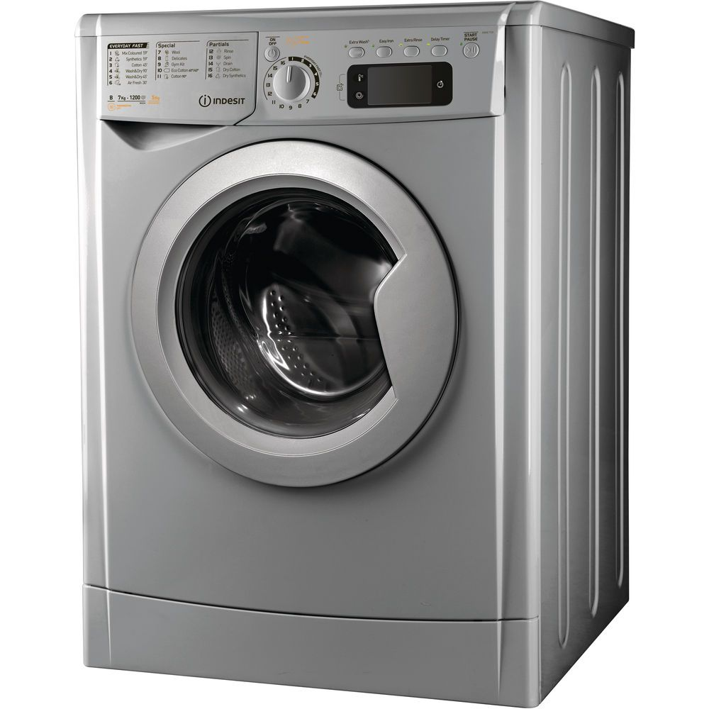 Indesit MyTime EWDE 7125 S Washer Dryer in Silver