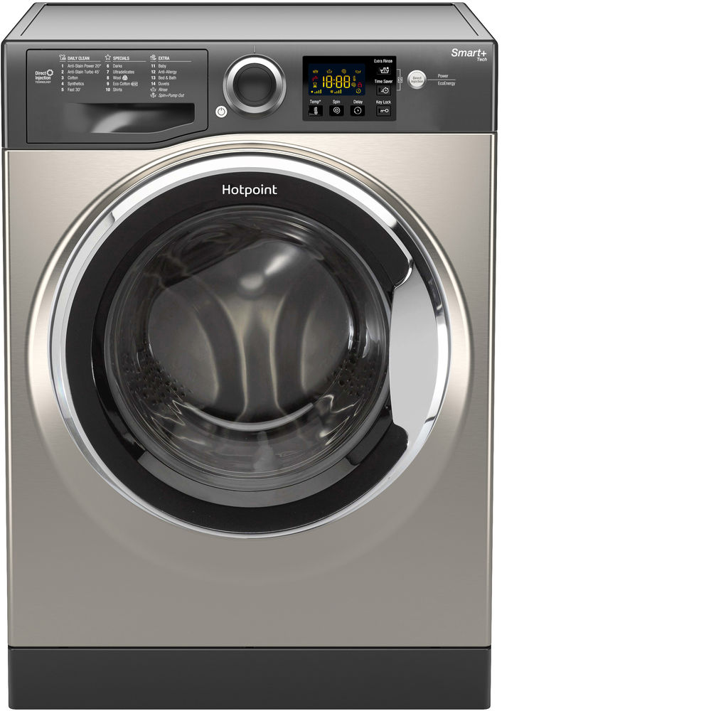 Hotpoint Smart+ RSG 845 JGX Washing Machine - Graphite