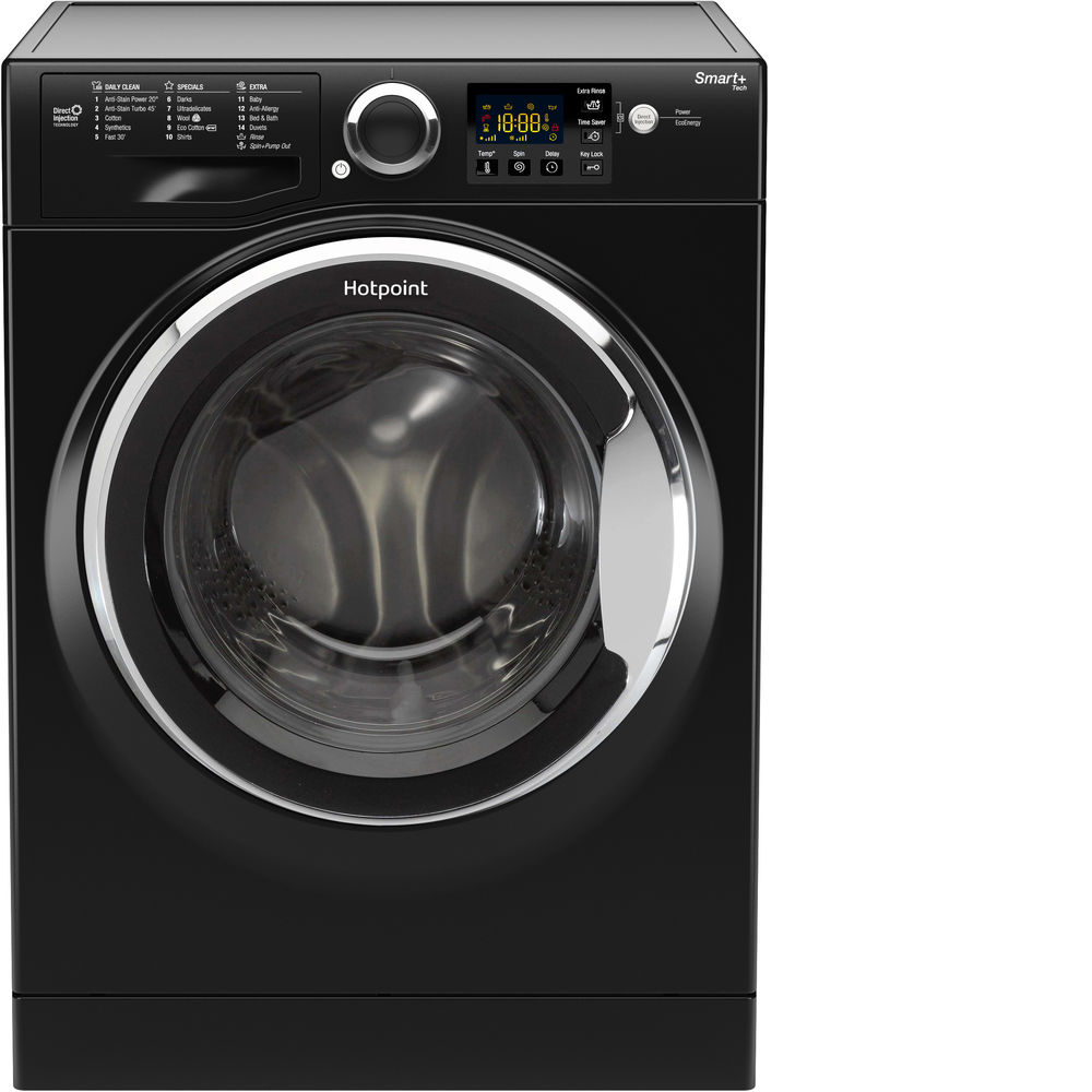 Hotpoint Smart+ RSG 845 JKX Washing Machine - Black