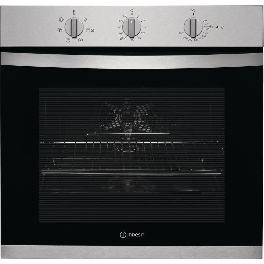 Indesit Aria KFW 3543 H IX UK Electric Single Built-in Oven in Stainless Steel