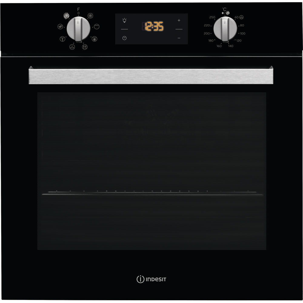 Indesit Aria IFW 6340 BL UK Electric Single Built-in Oven in Black