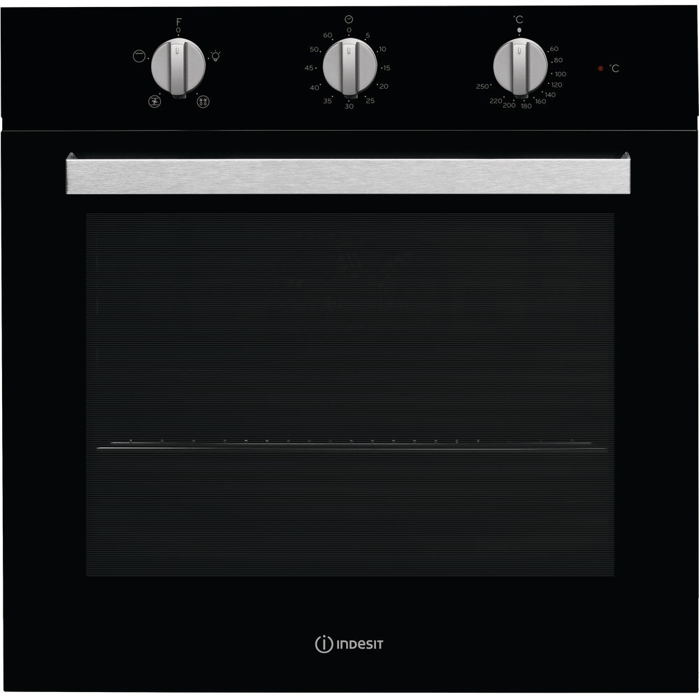 Indesit Aria IFW 6330 BL UK Electric Single Built-in Oven in Black