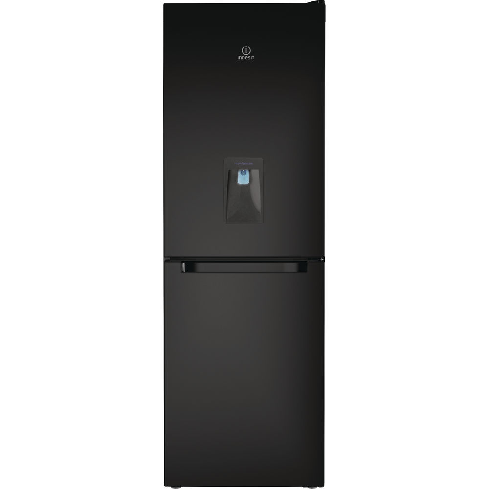 Indesit LD70 N1 K WTD Fridge Freezer in Black
