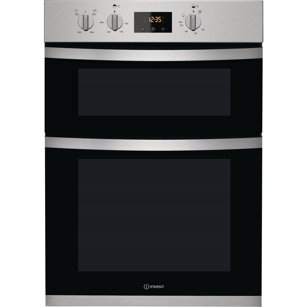 Indesit Aria KDD 3340 IX Electric Double Built-in Oven in Stainless Steel