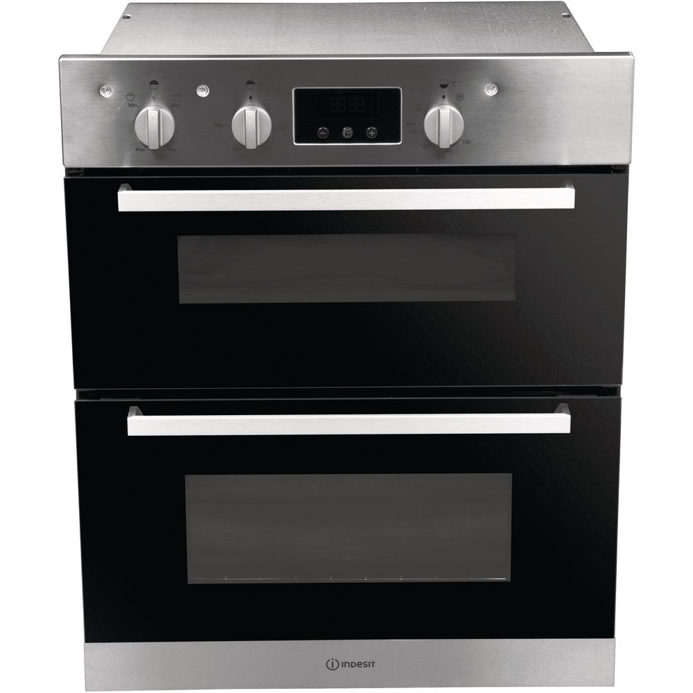 Indesit Aria IDU 6340 IX Electric Built-under Oven in Stainless Steel and Black