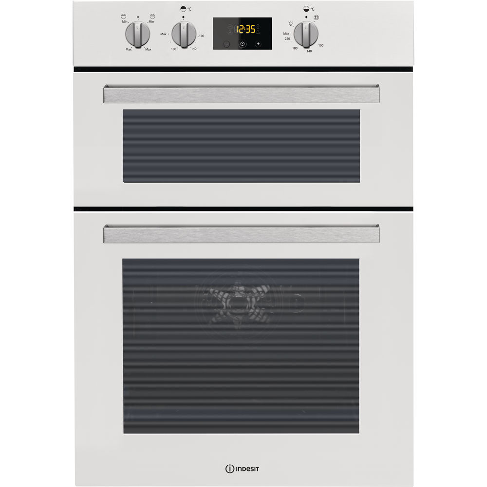 Indesit Aria IDD 6340 WH Electric Double Built-in Oven in White