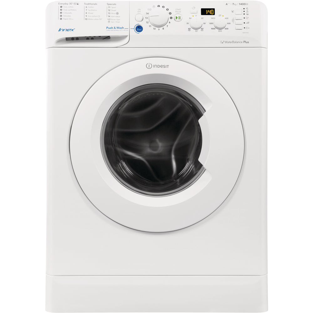indesit innex bwd 71453 w washing machine in white bwd. Black Bedroom Furniture Sets. Home Design Ideas