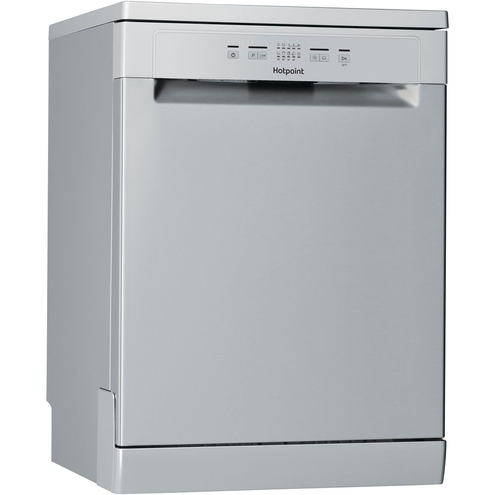 Hotpoint dishwasher: full size, silver color
