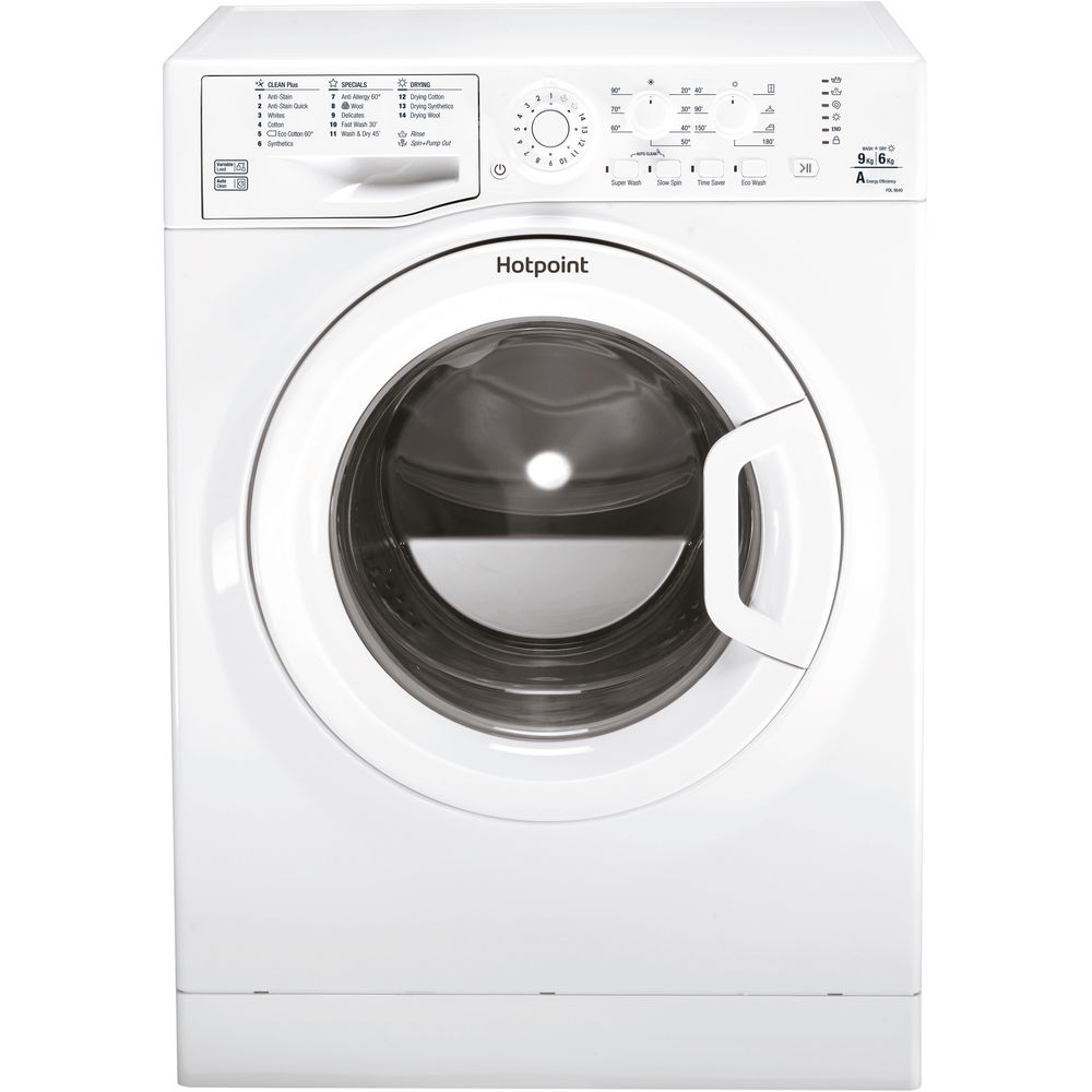 Hotpoint Futura FDL 9640P washer dryer - white