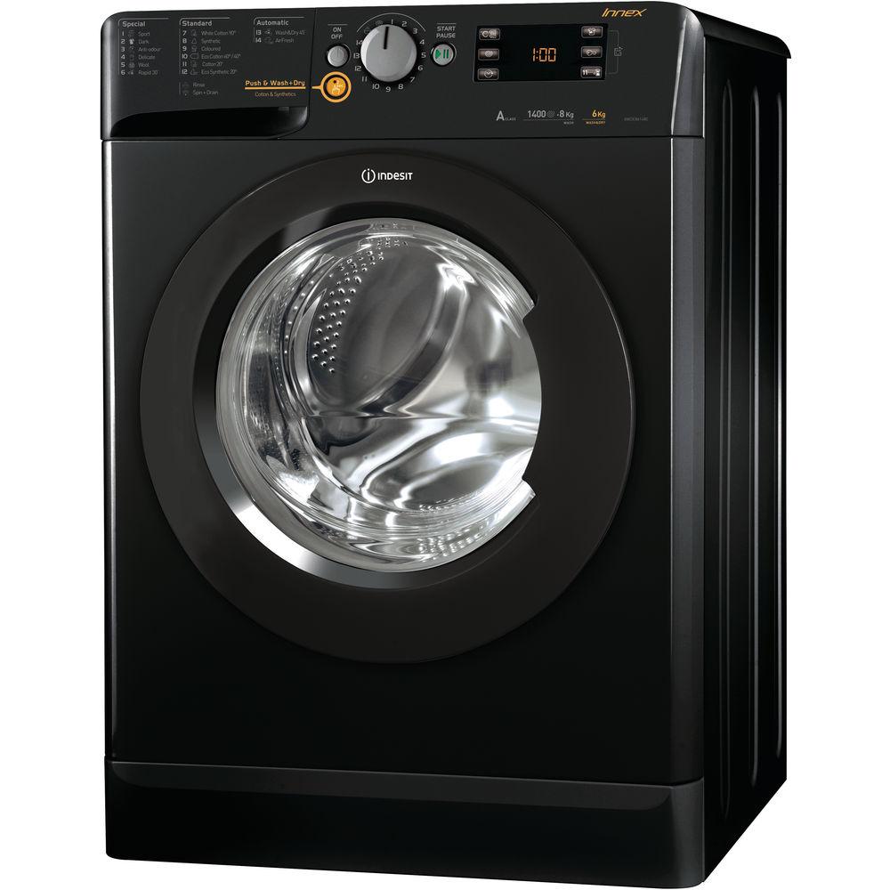 Indesit Innex XWDE 861480X K Washer Dryer - Black