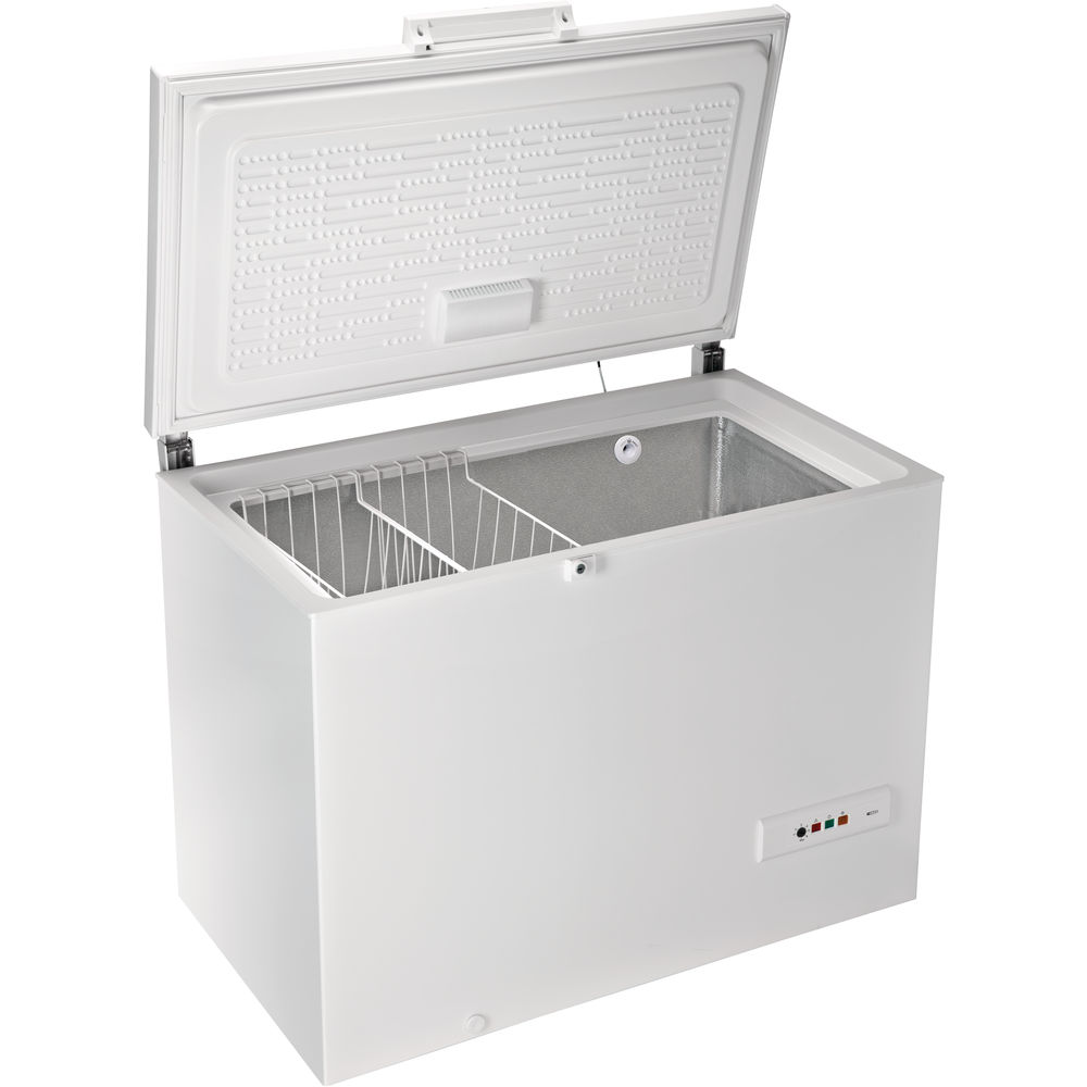 Hotpoint freestanding chest freezer: white color