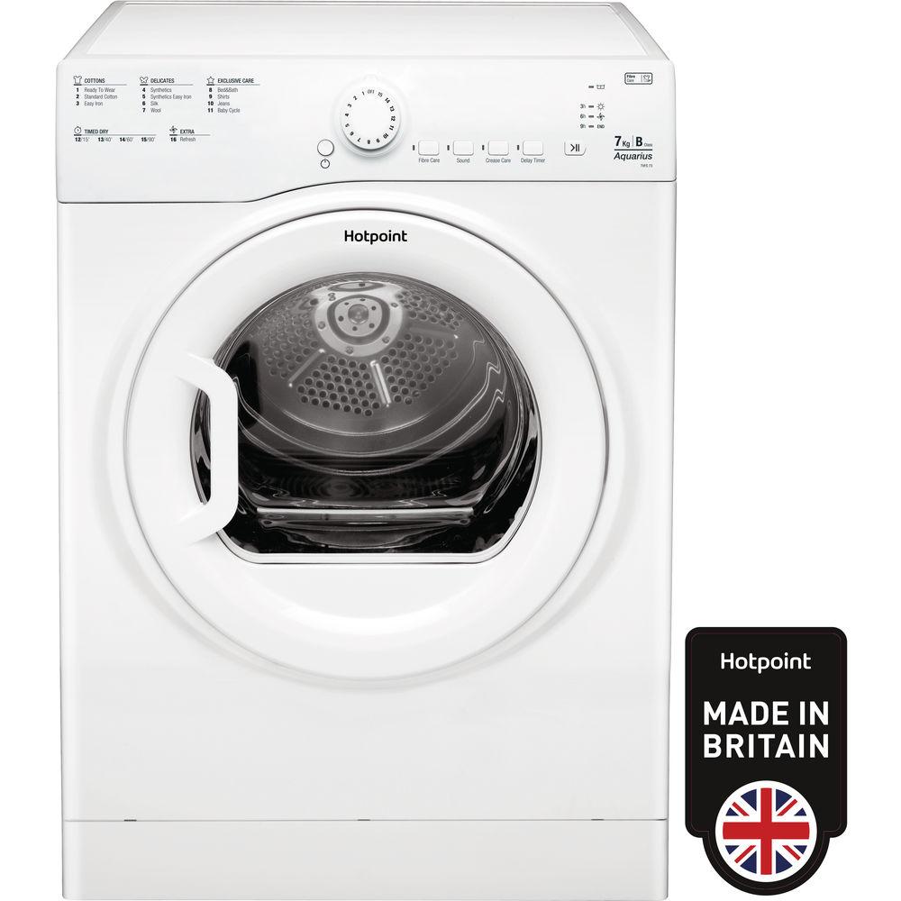 Hotpoint Aquarius TVFS 73B GP.9 Tumble Dryer - White