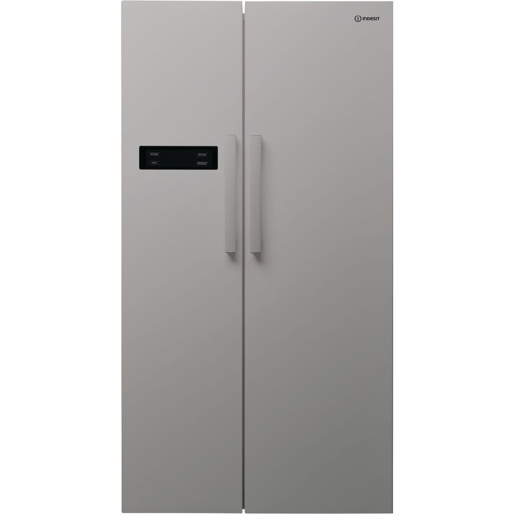 Side-by-side american fridge: silver colour