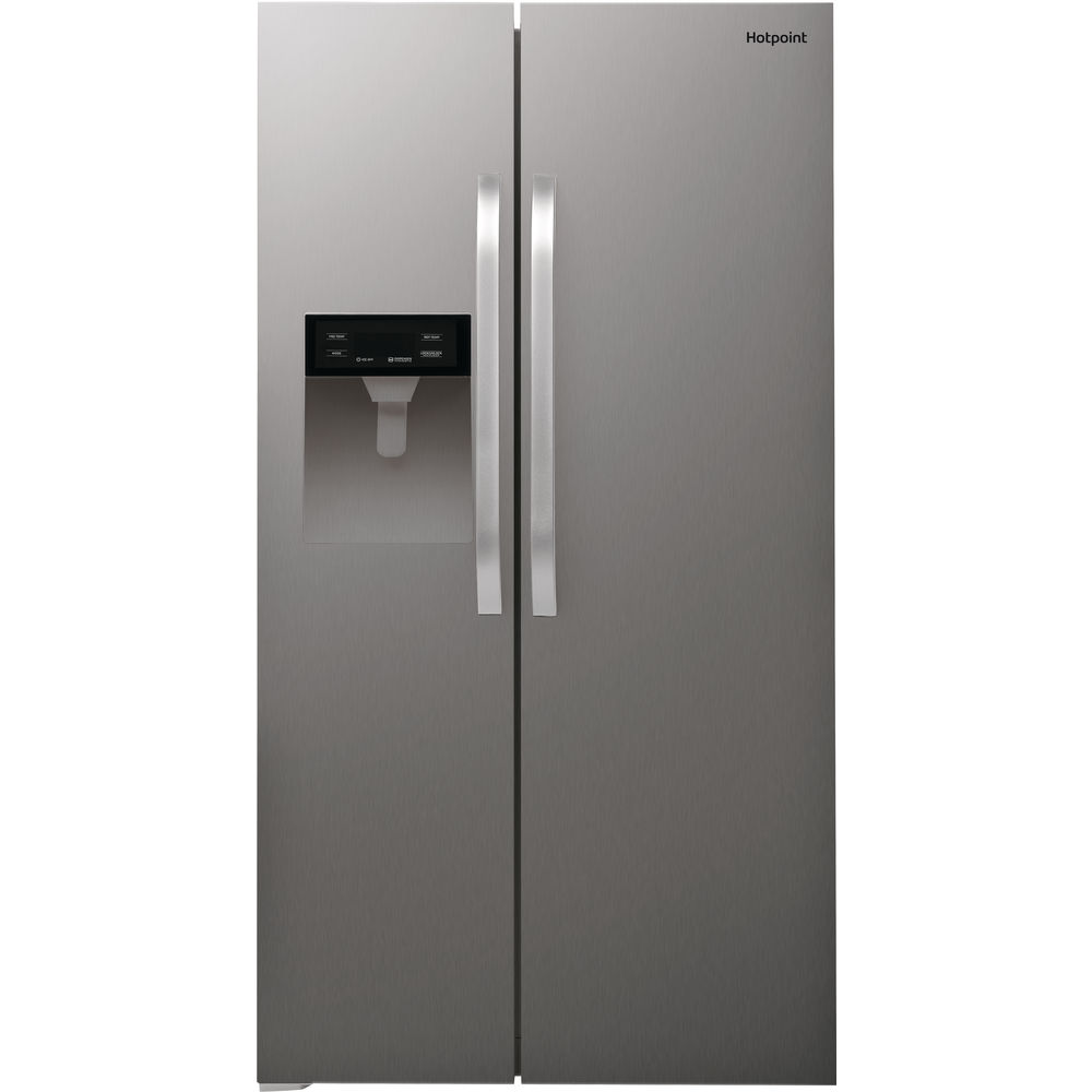Hotpoint side-by-side american fridge: inox color