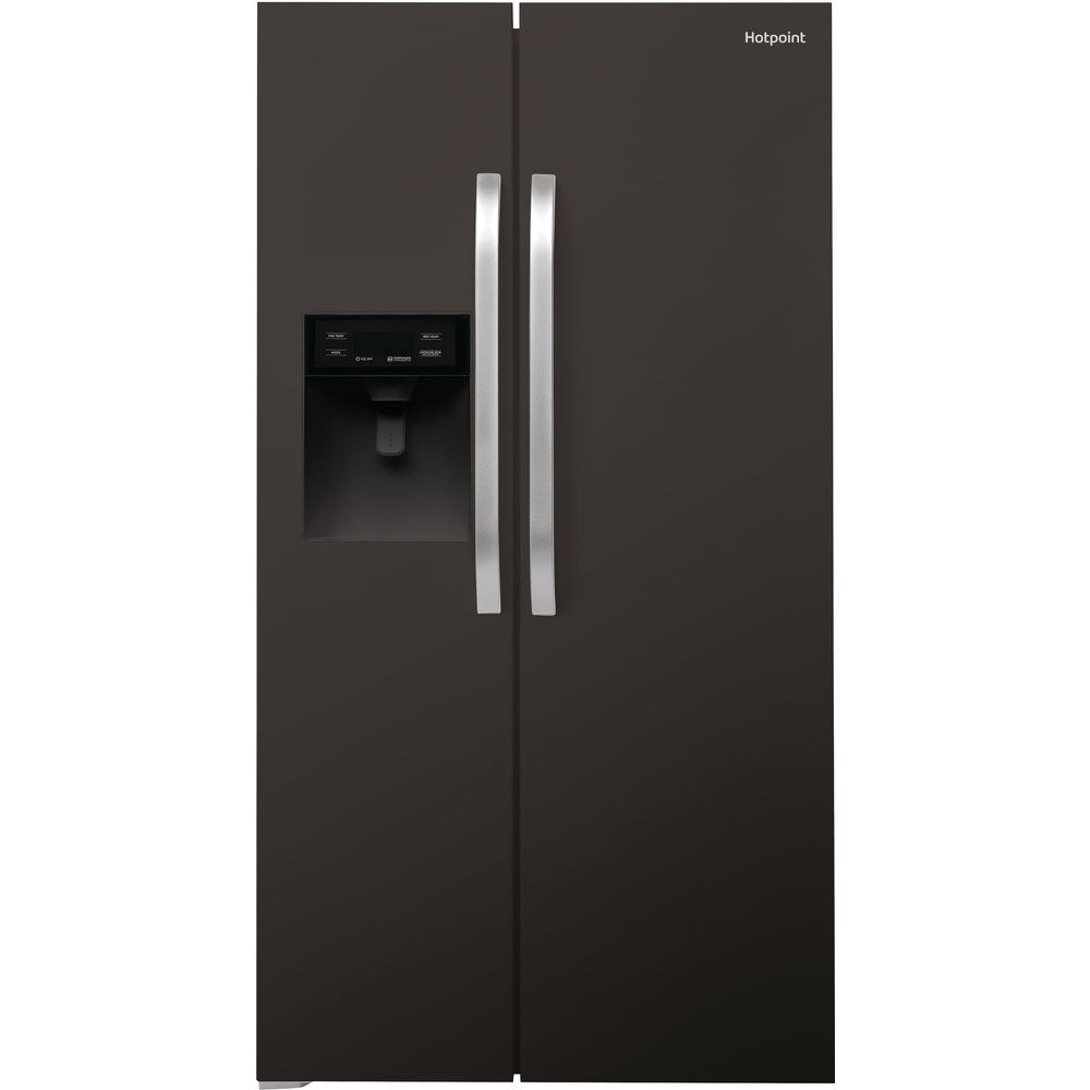 Hotpoint side-by-side american fridge: black color